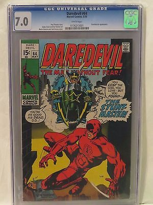 Daredevil #64 CGC 7.0 Stuntmaster appearance - Cents/US edition