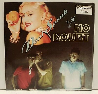 "No Doubt Don't Speak Uk 7"" Picture Disc Vinyl Number 36 Sleeve ! Nm"