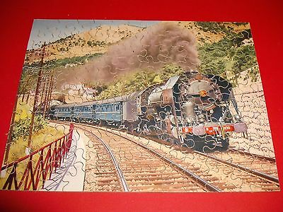VICTORY WOOD JIGSAW PUZZLE of THE FRENCH BLUE TRAIN
