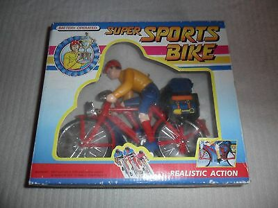 Boxed Childrens Vintage Battery Operated Super Sports Bicycle Toy.