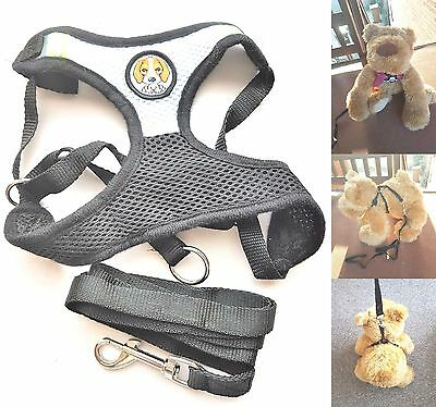 Dog harness and lead leash mesh vest soft comfortable for a small to medium dog