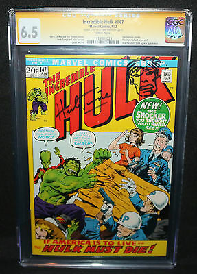 Incredible Hulk #147 - Sketch by Herb Trimpe - CGC Signature Series 6.5 - 1972