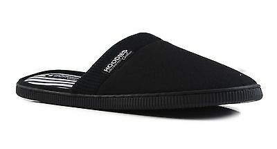 Mens Slippers Grosby Hoodies SCUFF Black White Slipper Scuffs - Size S M L XL