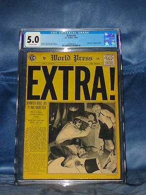 Extra #3 Cgc 5.0 E.c. Comics 1955 Johnny Craig Reed Crandall John Severin Art
