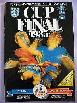 1985 FA Cup Final Everton V Manchester United Signed By Ron Atkinson