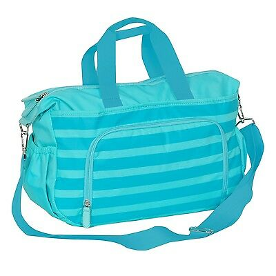 Everest Diaper Bag with Changing Station Aqua Blue One Size