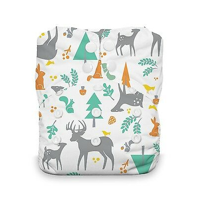 Thirsties Snap One Size All in One Woodland