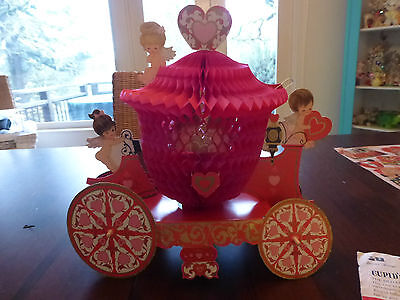 Darling Vintage Valentine Centerpiece American Greetings Cupid's Carriage
