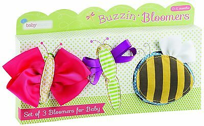 Baby Aspen Buzzin' Bloomers Set of 3 Bloomers for Baby 6-12 Months