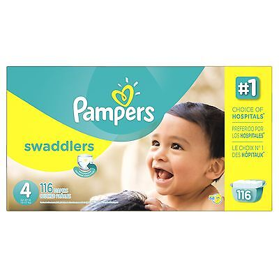 Pampers Swaddlers Diapers Size 4 Economy Pack 116 Count- Packaging May Vary