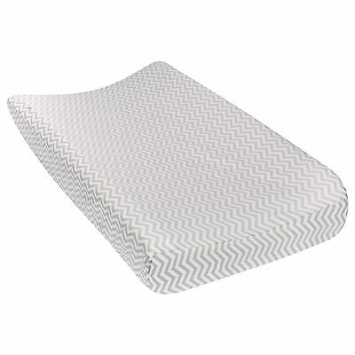 Trend Lab Gray Chevron Deluxe Flannel Changing Pad Cover