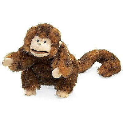 Folkmanis Puppets Monkey Hand Puppet Brown
