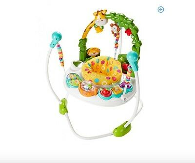 Fisher-Price Go Wild Jumperoo Activity Baby Bouncer/Motor Skills Learning Skills