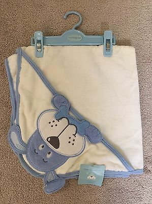 Blue Dog Baby Hooded Towel Cuddle Robe