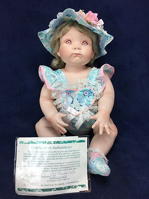 """HEAVY 22"""" PORCELAIN BREATHER DOLL """"TRICIA"""" By Artist Cindy Rolfe Ltd Ed 210/2000"""