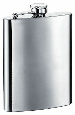 "Visol ""Econo"" Stainless Steel Flask Satin Finish 8-Ounce Chrome"
