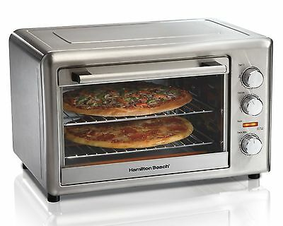 Hamilton Beach 31103 Countertop Oven with Convection and Rotisserie Stainless...