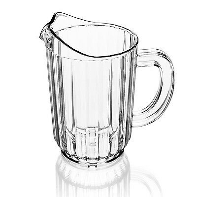 New Star 46113 Polycarbonate Plastic Restaurant Water Pitcher 60-Ounce Clear ...