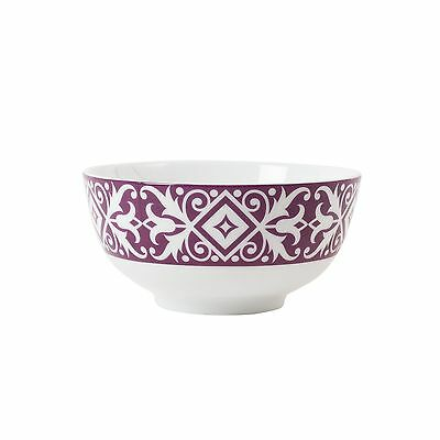 Fitz and Floyd Color Collection Graphic Appetizer Bowl Purple