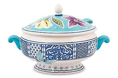 Fitz and Floyd Courtyard Tureen with Ladle