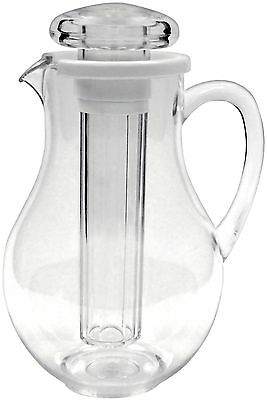 Winco Polycarbonate Water Pitcher with Ice Tube Core 2-Quart