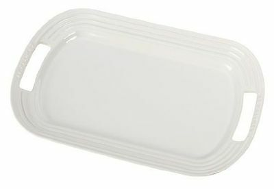 "Le Creuset Stoneware 14"" Oval Serving Platter White"