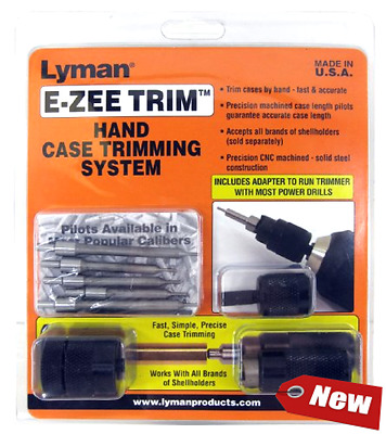 New Lyman Products E-ZEE Trim Hand Case Trimmer Rifle Set Free Shipping Fun Gift