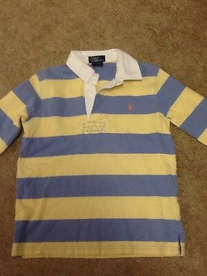 Ralph Lauren Polo Boys Sz 6 Long Sleeve Polo Rugby Shirt