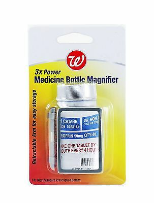 Walgreens 3x Power Medicine Bottle Magnifier