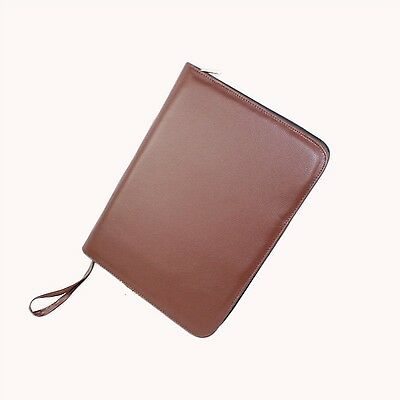 Fountain Pen Case for 48 Pens Leather Brown