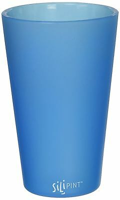 Silipint Bend Blue Shatterproof Silicone Pint Glass 16 Ounces