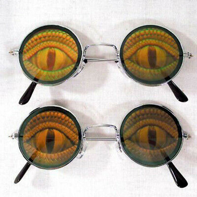 BUY 1 GET 1 FREE HOLOGRAPHIC LIZARD EYE GLASSES hologram 3-Dimentional reptile