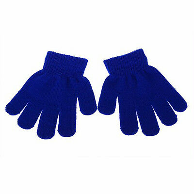 Kids Handmade Warm Magic Gloves Winter Protection Stretchy Knitted 5 Colours Pop