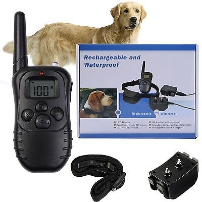 CCLI 300m Remote Dog Training Collar Rechargeable Waterproof Anti Barking Col...