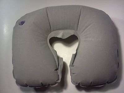 Inflatable Travel Pillow Grey