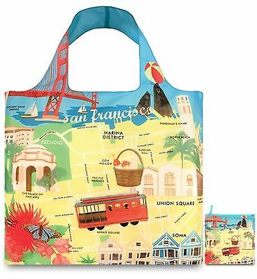 LOQI Reusable Tote Bag San Francisco Print United States Carry-On