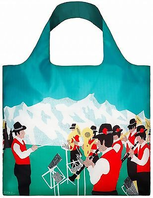 """LOQI UR.SI Reusable """"Orchestra"""" Tote Bag Multicolored International Carry-On"""