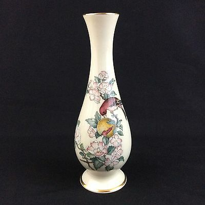 "Lenox China Serenade Tall Vase 8 3/4"" Gold Trim Made in USA"