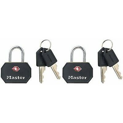 Master Lock 4681TBLK TSA-Accepted Keyed Luggage Lock Black 2-Pack