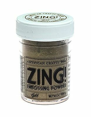 American Crafts Zing Metallic Embossing Powder 1-Ounce Gold