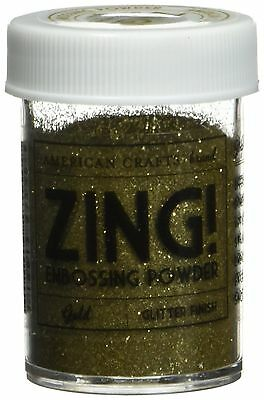 American Crafts Zing Glitter Embossing Powder 1-Ounce Gold