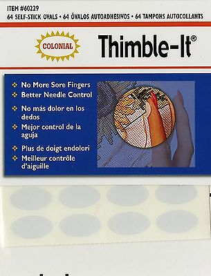 Colonial Needle Colorbok Thimble-It Finger Pads 64 Per Package