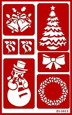 Armour Etch 21-1611 Over N Over Stencil Christmas