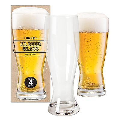 DCI XL Giant Beer Glass Holds 4 Beer Bottles 52 oz Capacity