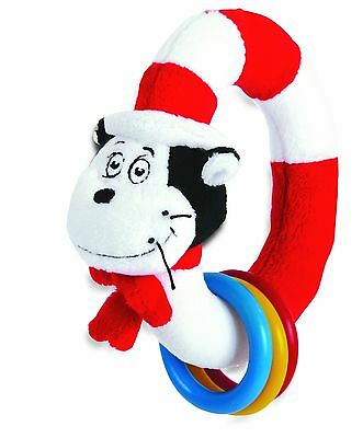 Manhattan Toy Dr. Seuss Cat in The Hat Take and Shake Ring Rattle and TeeTher...