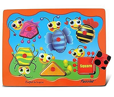 Puzzled Insects Shapes Peg Puzzle