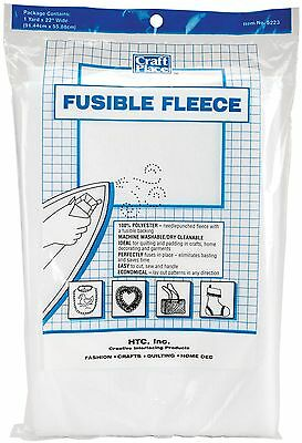 HTC 5223 Fusible Fleece 36 by 22-Inch White