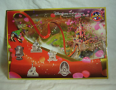 Pin Trading Day 2008 Display Board Map Disney Paris with Chip and Dale Pin LE