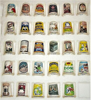 Lot Of 29 Birchcroft Advertising Thimbles