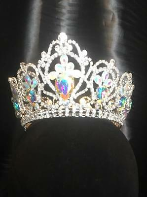 Full Crown Ab  Rhinestone Tiara Pageant Bridal Party 3""
